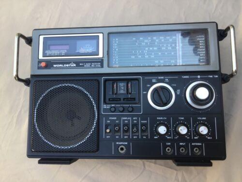 Vintage WORLDSTAR MULTI BAND RECEIVER Multiband Radio Model MG-6100 + Cord & Mic