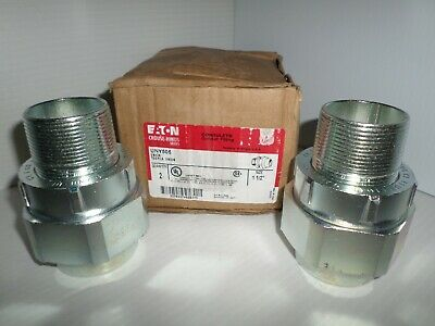 New Box Of 2 Eaton Crouse Hinds Unf Uny-505 1-12 Explosion Proof Union