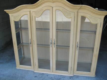 French Chateau Blanc Vintage Display Cabinet Hutch Broadbeach Waters Gold Coast City Preview