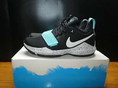 c01601ab5d42 Nike PG 1 Basketball Shoes Paul George Black Bone Aqua 878627-002 Size 10