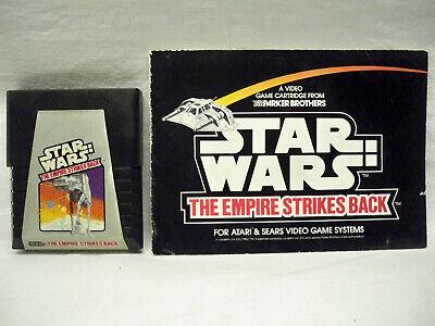 STAR WARS THE EMPIRE STRIKES BACK Atari 2600 Game COMPLETE w/ Manual FREE SHIP