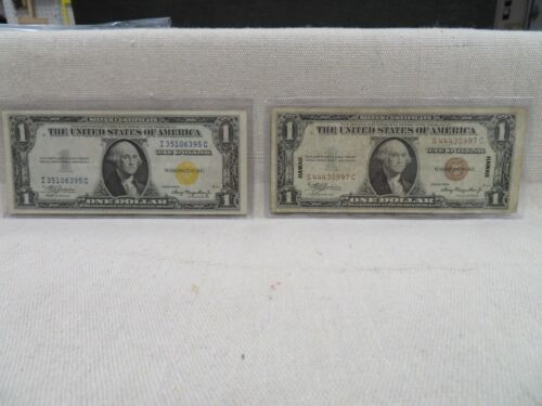 1935 A $1 SILVER CERTIFICATES BROWN & YELLOW SEALS F-2300 & F-2306