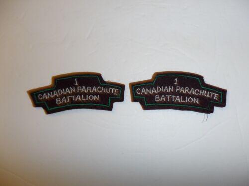 b0382p  WW2 Canada 1st Canadian Parachute Battalion Airborne tab pair IR17A