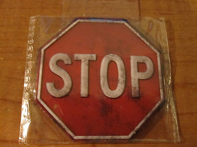 STOP Traffic Street Sign Refrigerator Metal Gun Safe or Toolbox Magnet