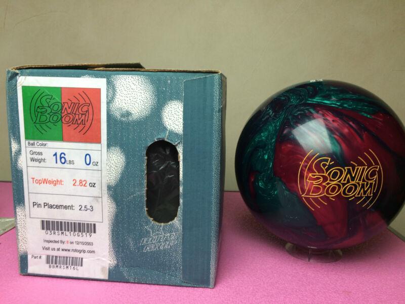 Roto Grip Sonic Boom Bowling Ball NIB 1st Quality 16LB Vintage Rare