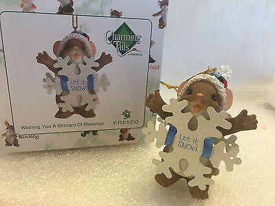 """Charming Tails """"Wishing You A Blizzard Of Blessings"""" DEAN GRIFF NIB ORNAMENT"""