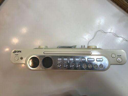 GPX UNDER-CABINET CD PLAYER/RADIO