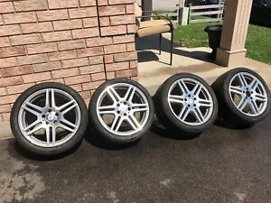 Mercedes-Benz 18 inch AMG OEM rims and tires