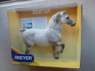 GLOSSY 2004 Breyer Blackhome Grandeur Lyn Grey Percheron Stallion Belgian 500