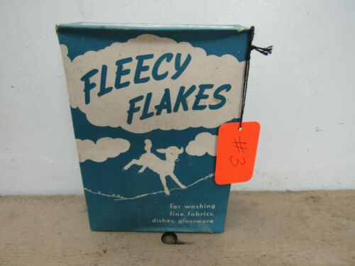 Vintage Unopened NOS Sealed 1950's Fleecy Flakes Laundry Soap Detergent Full #3