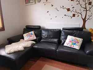 Genuine leather 3 Seater L-shape lounge with Chaise /couch /sofa Narwee Canterbury Area Preview