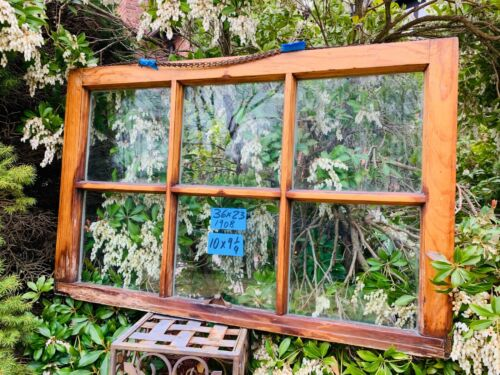 Vintage Antique Rare 6 panes Window sash 36 x 23  from 1908