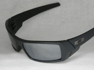 *NEW* OAKLEY GASCAN 12-856 IN MATTE BLACK WITH BLACK IRIDIUM POLARIZED LENS