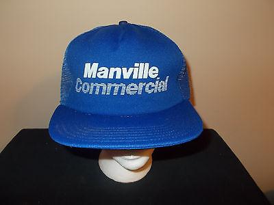 VTG-1980s Manville Commercial Building Products Contractors mesh hat sku16