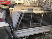 STEEL TRAY WITH CANVAS CANOPY OFF A SINGLE CAB UTE Laverton North Wyndham Area Preview