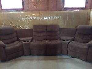 Sofa Sectional w/ 2 Reclining Chairs