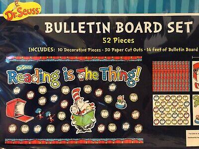 NEW Dr. Seuss: Bulletin Board Activity Set (Set of 52)  Teacher - Dr Seuss Activity