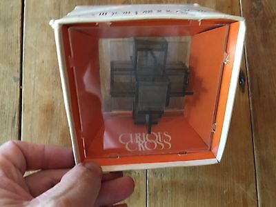 CURIOUS CROSS Dexterity Hand Puzzle Game in Orginal Package 1970