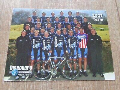 Team Discovery 2007 (wielerkaart  2007 team  discovery  ivan  basso , ekimov  ,)