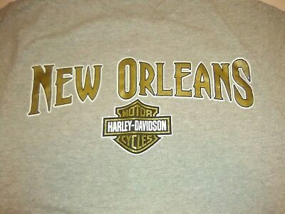 Harley-Davidson Motor Cycles New Orleans Grey T-shirt Size S Voodoo ()