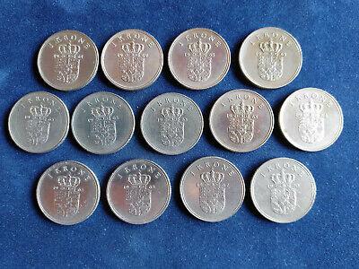 Gebraucht, Dänemark,  13 x 1 Krone 1961 -1970. gebraucht kaufen  Varel