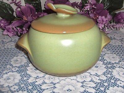 Green Bean Casserole Dish - Vintage Frankoma 4V Bean Pot W/Lid Dish Casserole Prairie Green