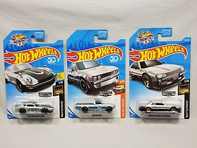 ×3 HOT WHEELS DATSUN 620 PICKUP 240Z NISSAN SKYLINE R30 ZAMAC EXCLUSIVE MOMC LOT