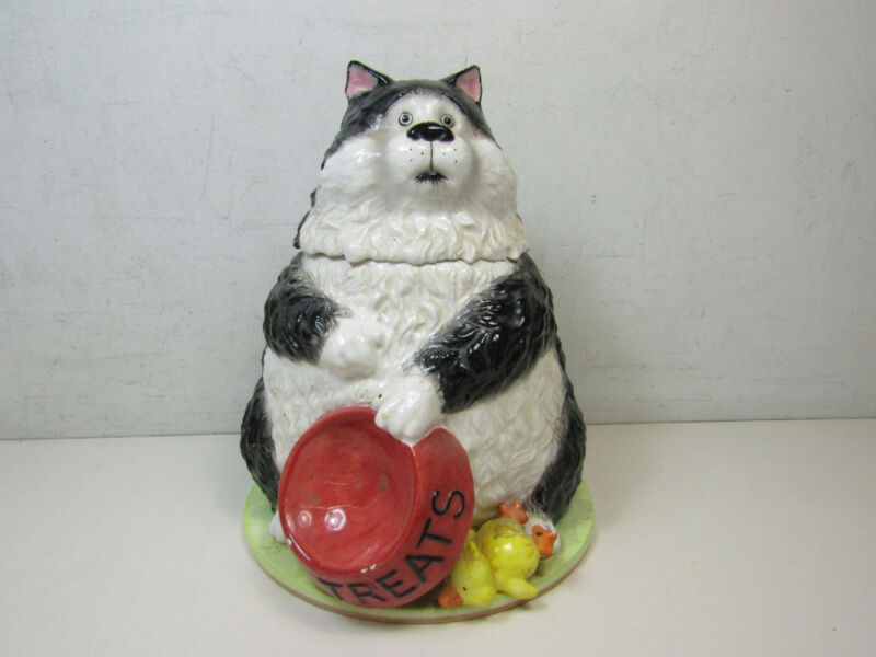 San Francisco Music Box Company Angus The Cat Cookie Jar Musical
