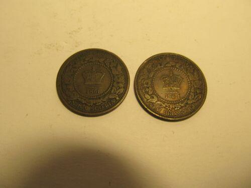 1861+1864 CANADA Nova Scotia One Cent Coins