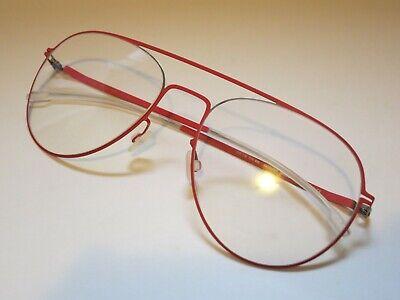 Mykita Lite EERO 405 Silver Rusty Red Glasses Eyewear Eyeglasses Frame (Handmade Eyewear)