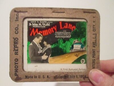 Memory Lane  - Original 1926  Movie Glass Slide - Conrad Nagel
