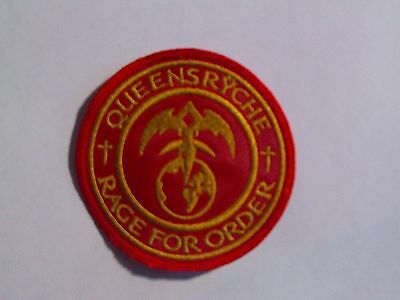 QUEENSRYCHE,SEW ON RED AND YELLOW EMBROIDERED PATCH