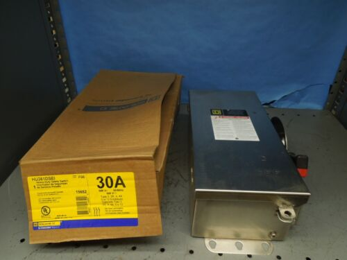 Sq D Hu361dsei Heavy Duty Safety Switch 30a 3p 600v Type 3,3r,4,4x 5 Or 12 Encl