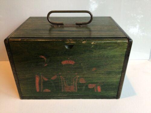 Vintage Mah Jong Set, Wood Box, Bone & Bamboo Tiles