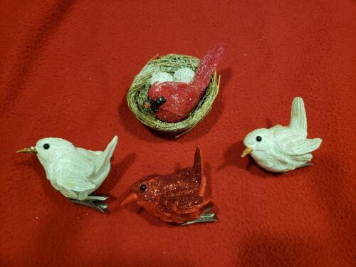 Lot 4 Bird Ornaments
