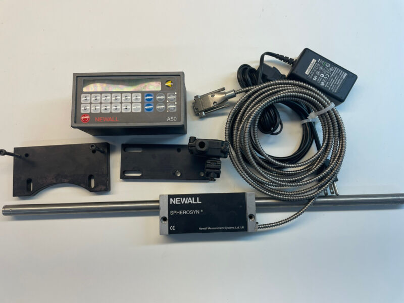 Newall A50 DRO And Spherosyn Linear Incoder Package