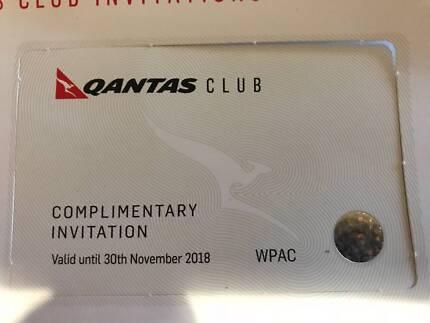 2x Qantas Club Business Lounge passes