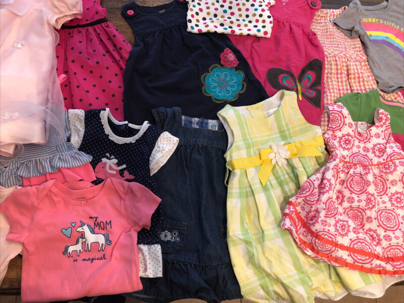 Baby Girls Clothes Mixed Lot Size 18-24 Months 19 Pieces