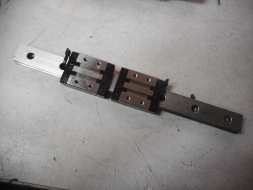 REXROTH MINIATURE LINEAR BEARING -- 2 x Wide Runner Blocks R0443 -- 205mm Long