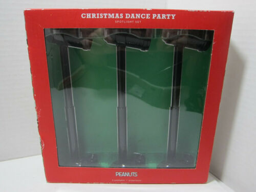 Hallmark Peanuts 2017 Christmas Dance Party LED Spotlight 3-Pack New Worn Box
