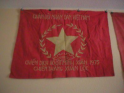 RARE VIETNAM WAR ERA RELIC NVA 1975 HO CHI MINH FLAG
