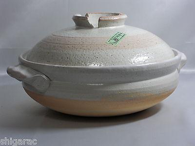 """Donabe for 4 to 6 Persons d33cm size """"Benishino"""" / Shigaraki Stoneware Japanese"""
