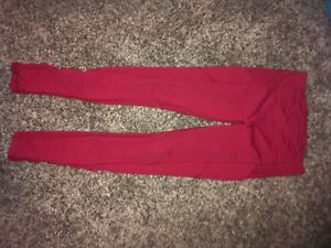Size 4 Red Lululemon Tights NWT