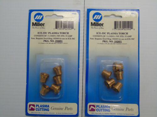 Genuine Miller Spectrum Plasma Tips for ICE-55 Torch Pkg/5 (192051)