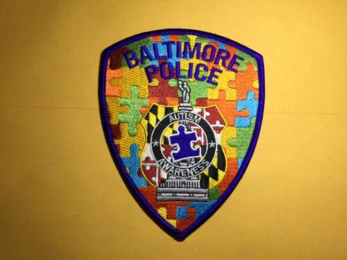 Baltimore City Autism Awareness police patch