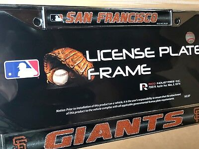 San Francisco Giants Glitter - 1 San Francisco Giants Glitter - Bling Chrome Metal License Plate Frame