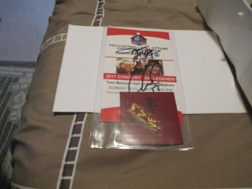 2017 Toby Keith / Kid Rock Football HOF Concert Pass Signed Autographed W COA