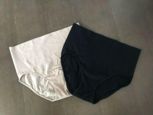 Motherhood Maternity Support Intimates Underwear S/M 2 Pair Beige/Black