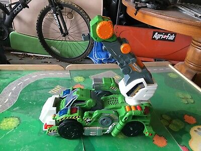 Switch And Go Dino Jagger The T-Rex Transforming Dinosaur ---Working! *No Drill*