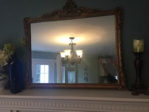 Antique Gilded wood gold mirror